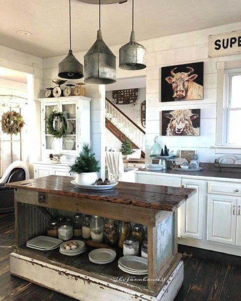 44 Rustic Kitchen Farmhouse Style Ideas | Homey Home | Farmhouse