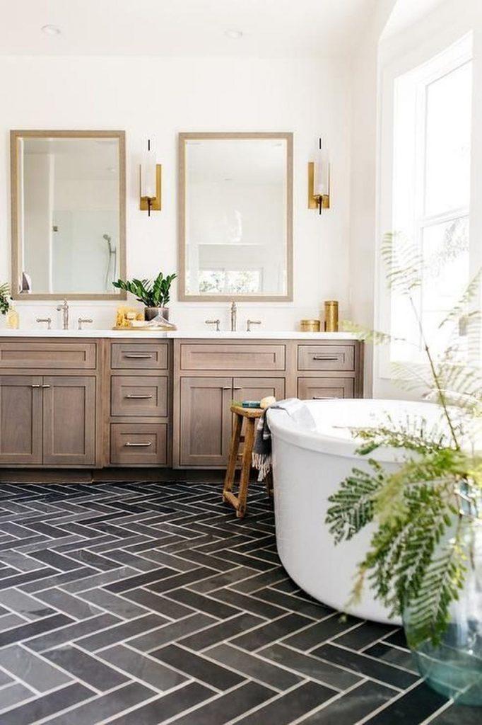 Rustic Small Bathroom Wood Decor Design 2