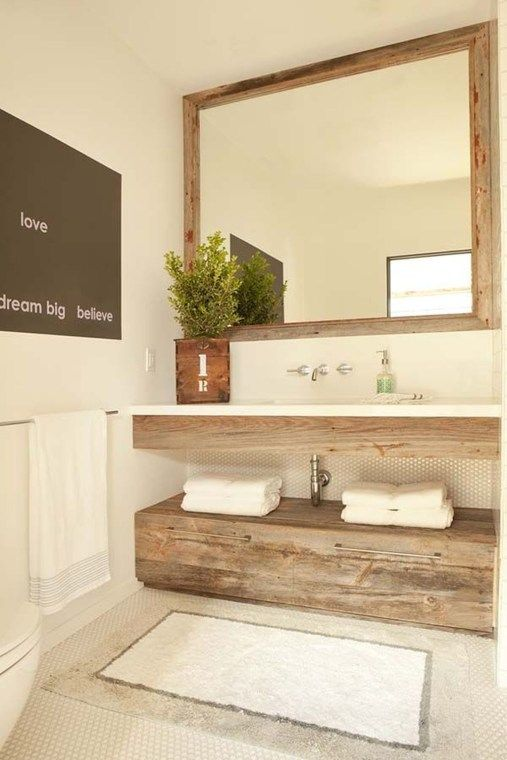 44 The Best Rustic Small Bathroom Ideas With Wooden Decor