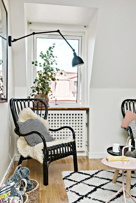 Black and White Decorating Ideas for Small Spaces in Scandinavian Style