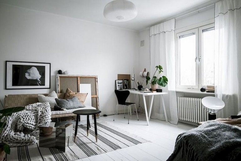 62+ Awesome Studio Apartment with Scandinavian Style Ideas on A