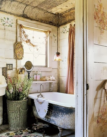 Burlap and Bananas: Shabby Chic Bathroom Decor~Guest Post!
