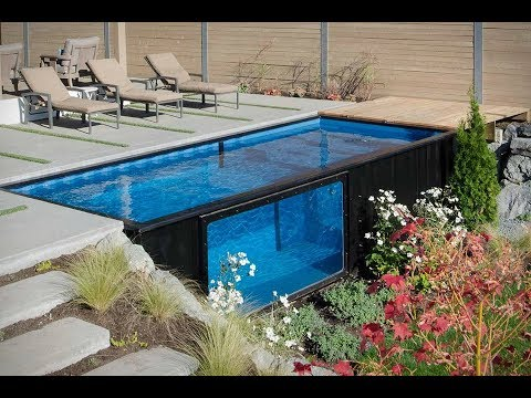 How To Build A Swimming Pool from Shipping Container - YouTube