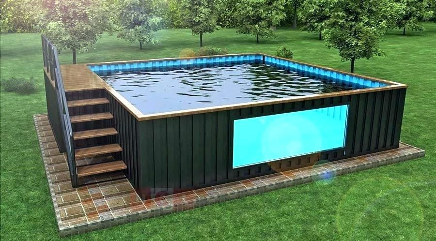 shipping container pool cost shipping container pool for sale the