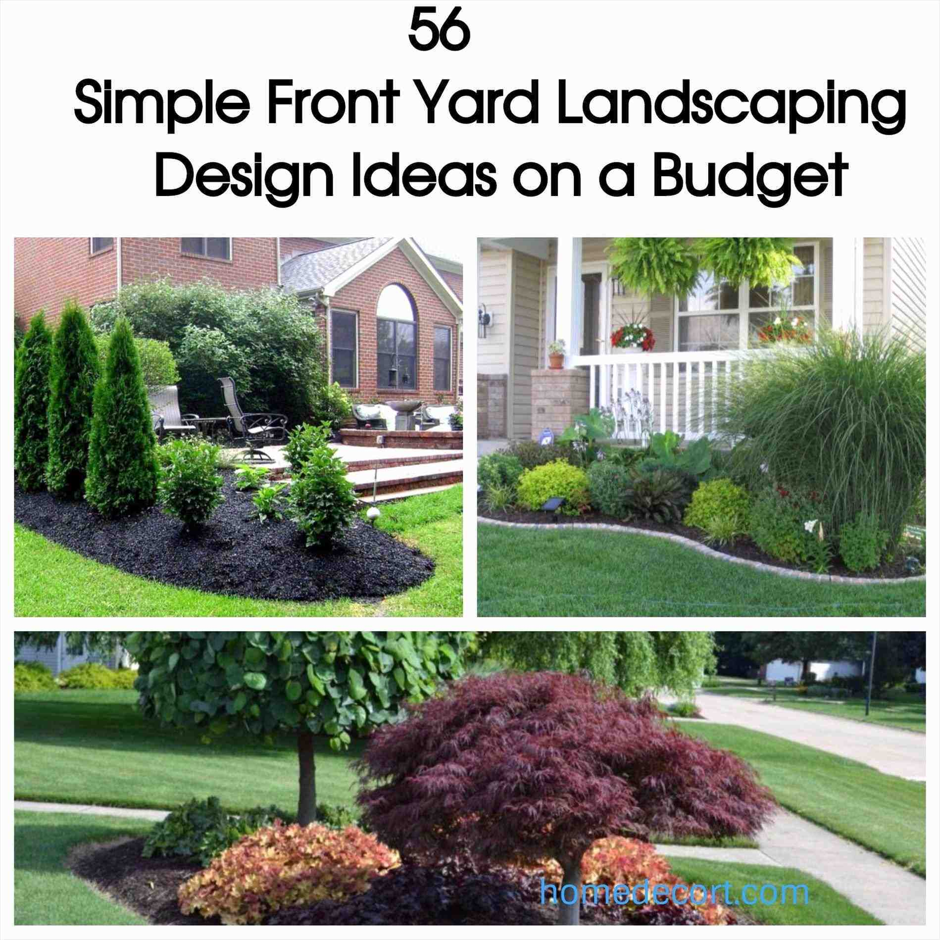 25+ Simple Front Yard Landscaping Ideas On A Budget Pictures and
