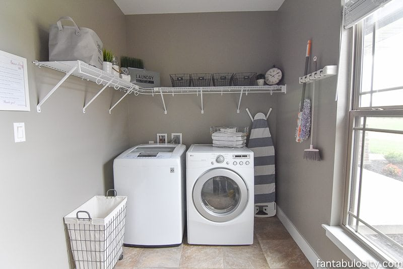 DIY Laundry Room Shelving & Storage Ideas - Fantabulosity