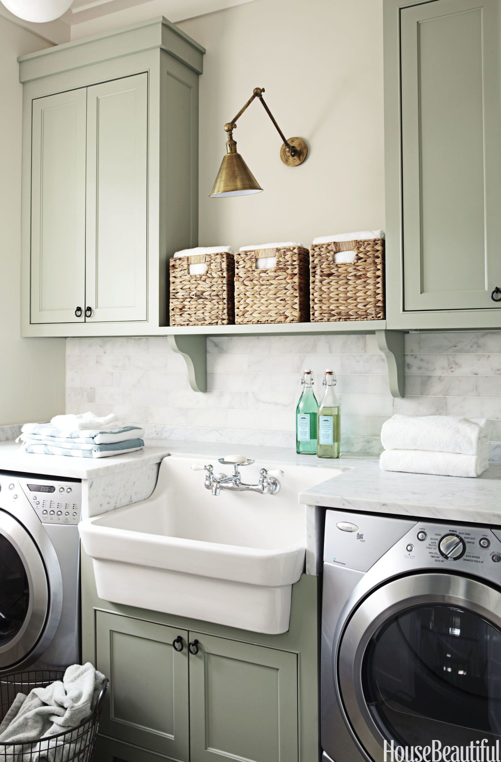 15 Small Laundry Room Ideas - Small Laundry Room Storage Tips