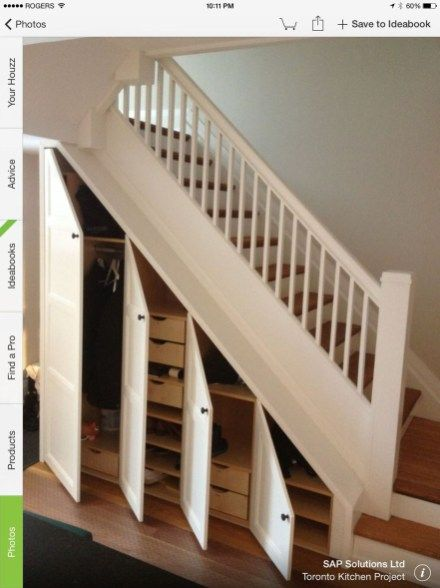46 Simple Small Stairs To Inspire | Workshop | Closet under stairs