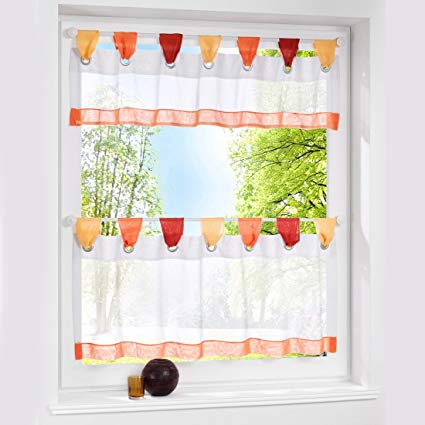 Amazon.com: Loweryeah Simple Small Curtains Window Screen for