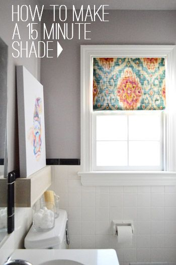 How To Make A DIY Window Shade in 15 Minutes | home & garden | Diy