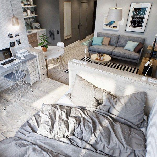 Simple Suite Room Apartment Decorating 10