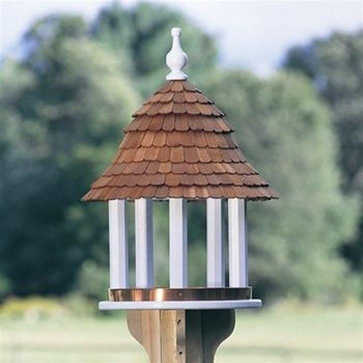 99 Stunning Stand Bird House Ideas For Garden - 99BESTDECOR