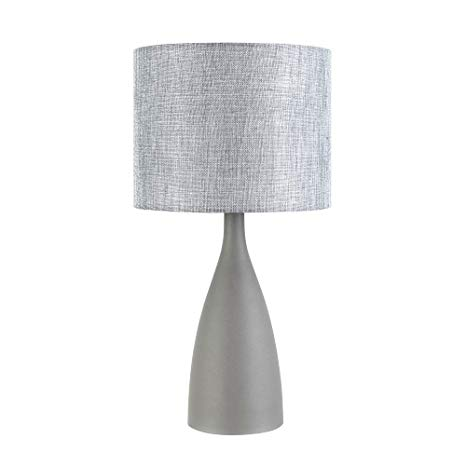Curved Table Lamp Gray Elegant Stylish Decorative Lamp with Grey