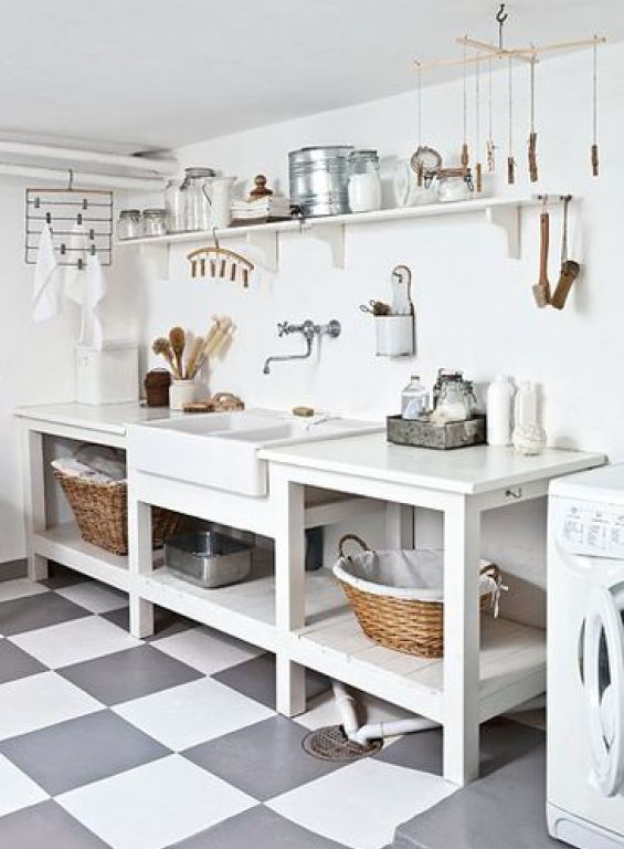 Ten Stylish Laundry Rooms You Can Copy | Laundry Room Organization