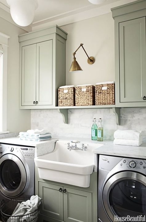 The World's Most Beautiful Laundry Rooms | home | Laundry room sink