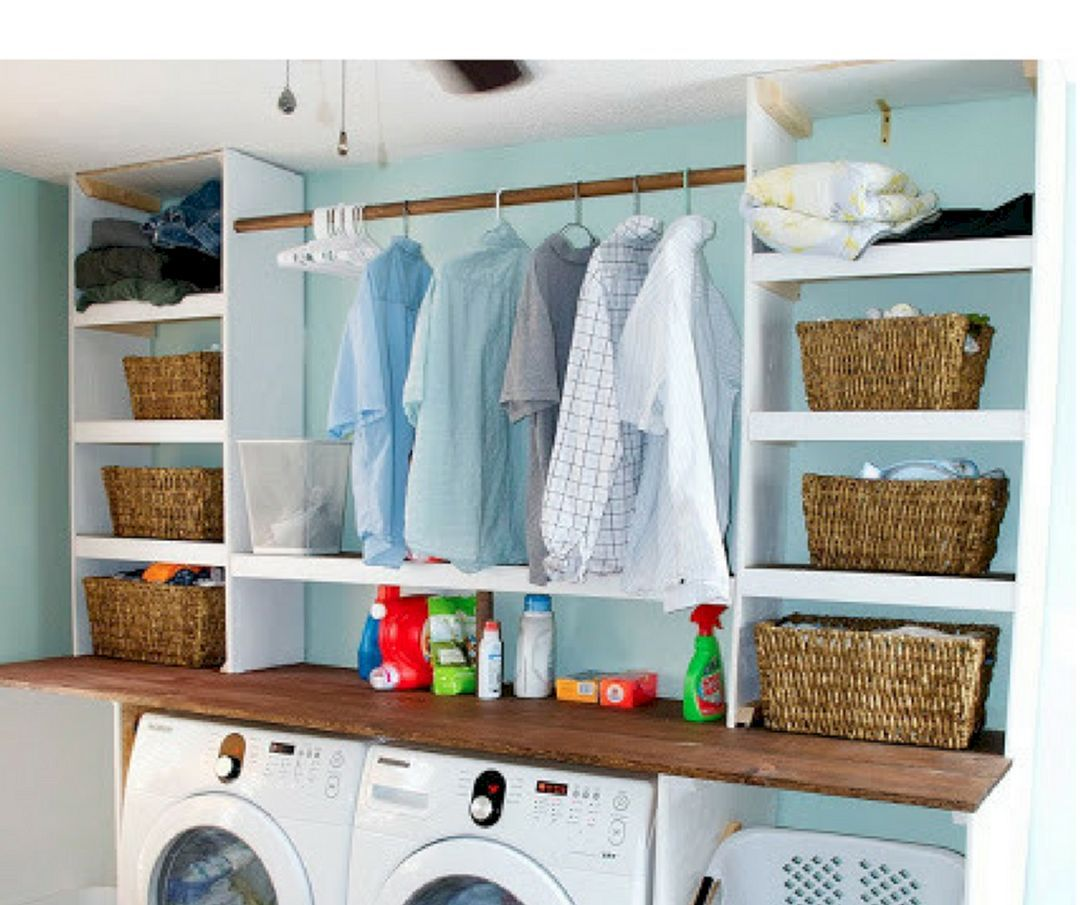 20 Stylish Laundry Hanging Storage Design Ideas You Need To Copy