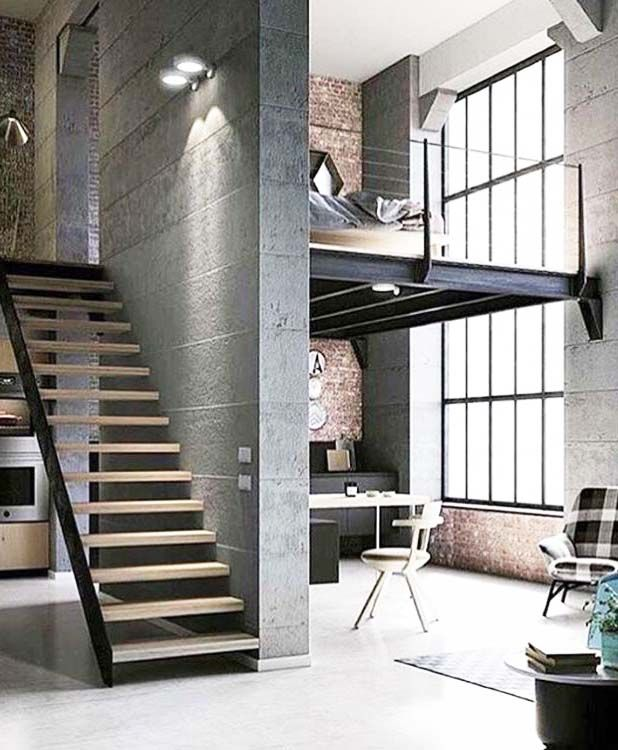 stylish urban life // living room // city loft // urban suite