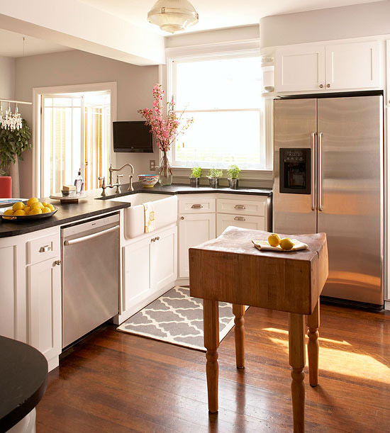 Small-Space Kitchen Island Ideas - Bhg.com | Better Homes & Gardens