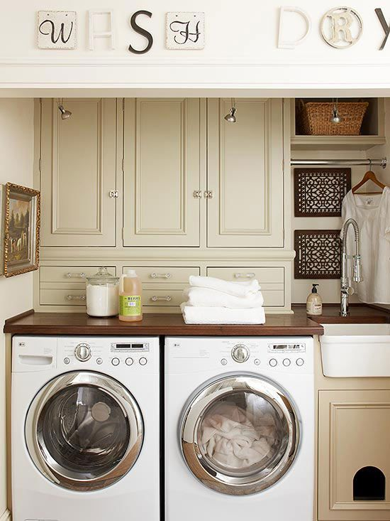 Laundry Room Storage Solutions | Lovely Laundry Rooms | Laundry room