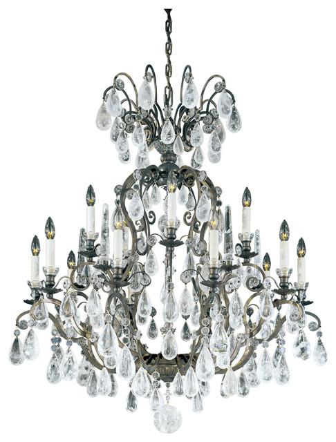 Versailles Rock Crystal 15-Light Chandelier - Traditional