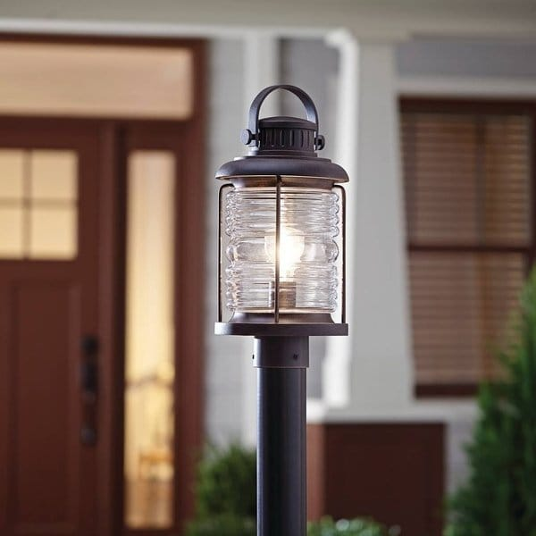 Shop Traditional 1-light Prairie Rock Outdoor Post Mount - On Sale
