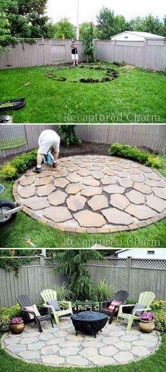 Traditional Rustic Garden Patio