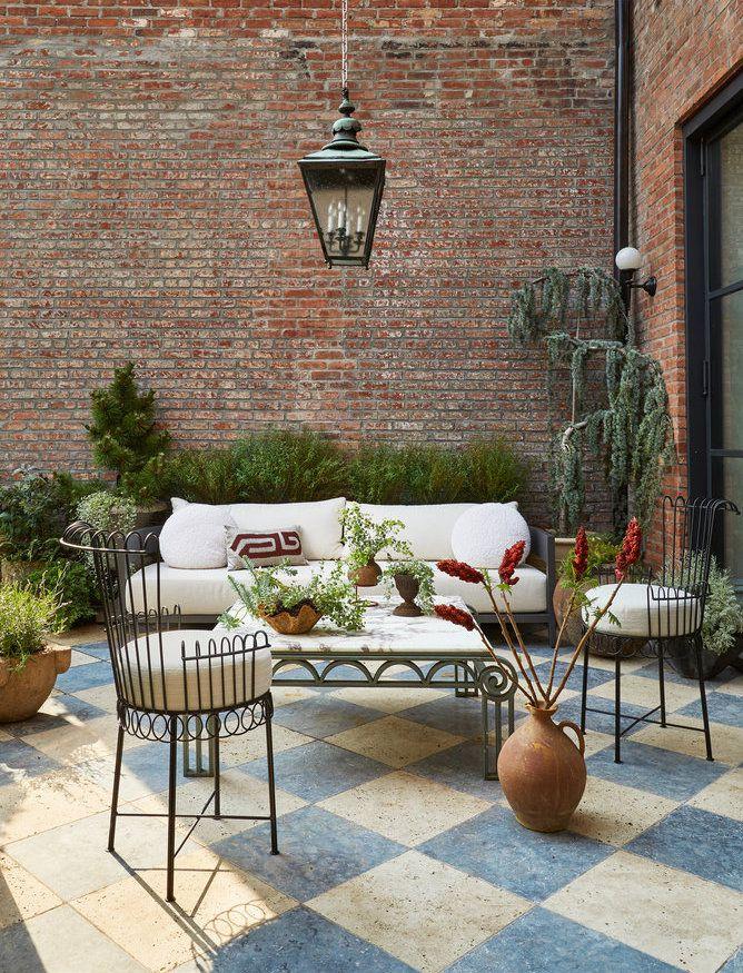 Traditional Rustic Garden Patio Flooring Ideas 9