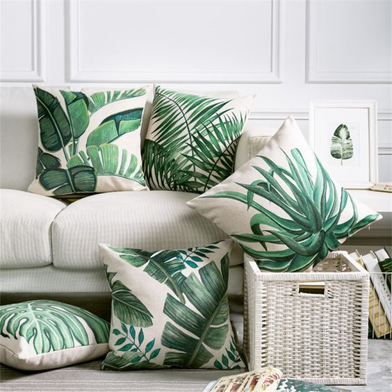 30 Stylish And Timeless Tropical Leaf Décor Ideas - DigsDigs