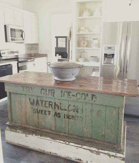 Vintage Farmhouse Kitchen Islands: Antique Bakery Counter for Sale