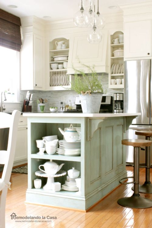 Vintage Farmhouse Style Kitchen Island