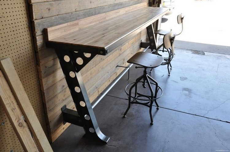 Vintage Wood Industrial Furniture Design Ideas 20 - HomeKemiri.com