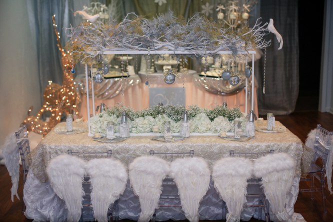 White and Silver Winter Wonderland Party Inspiration |