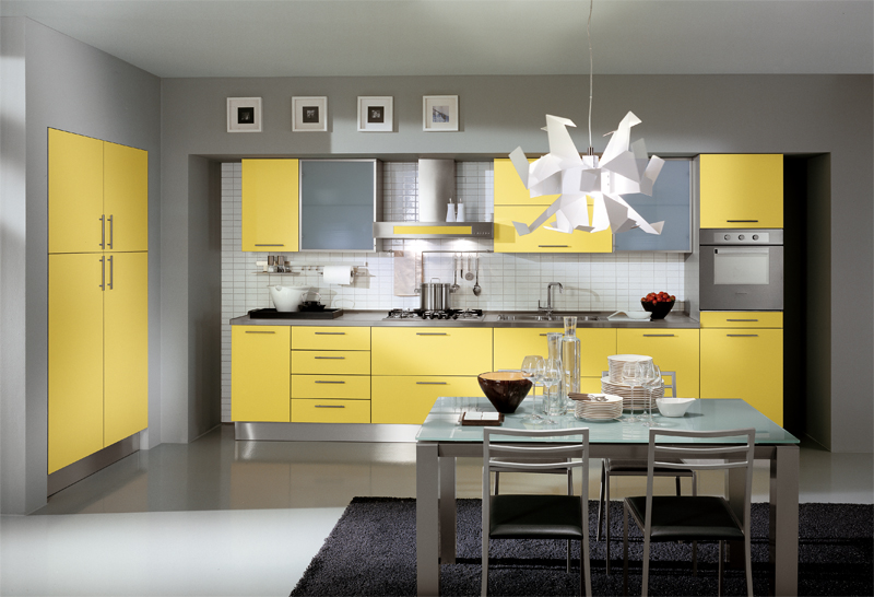 Yellow Kitchen Designs 2