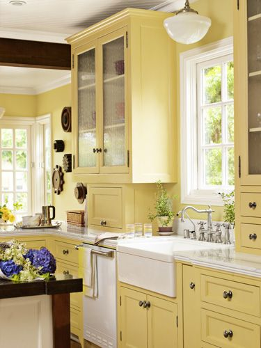 Yellow Kitchen Designs 8