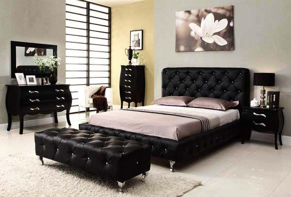 Beauty in black in your bedroom furniture