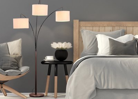 Bedroom floor lamp: a light source in your bedroom