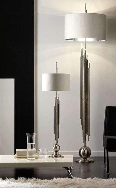 Beutiful table and floor lamps