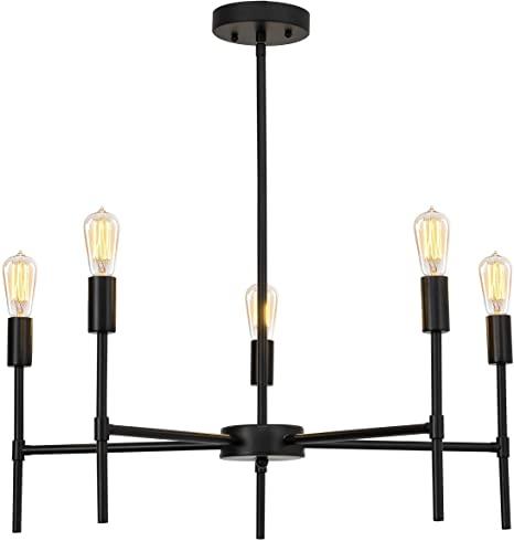 Black chandelier lamp for home