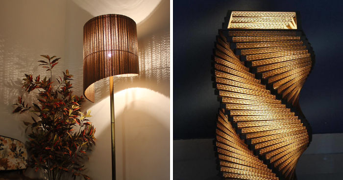 Cardboard instead of a real lamp