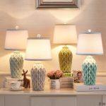 Ceramic table lamp for vanity in the bedroom