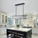 Chandelier in the kitchen