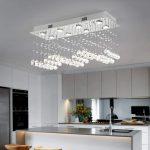 Chandelier lighting in the kitchen