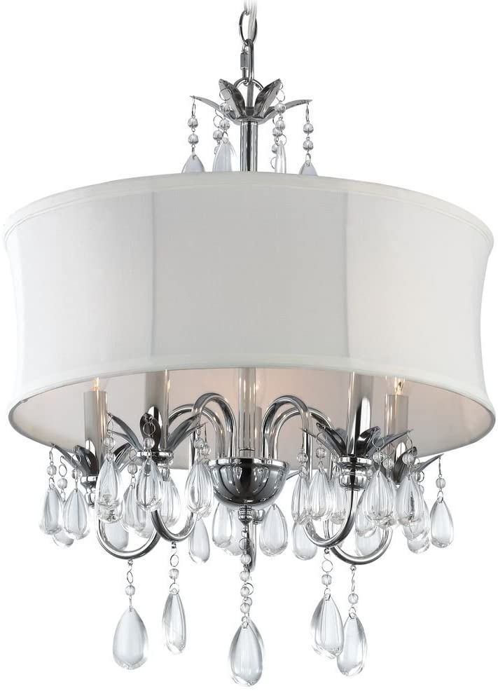 Chandelier with drum shadow