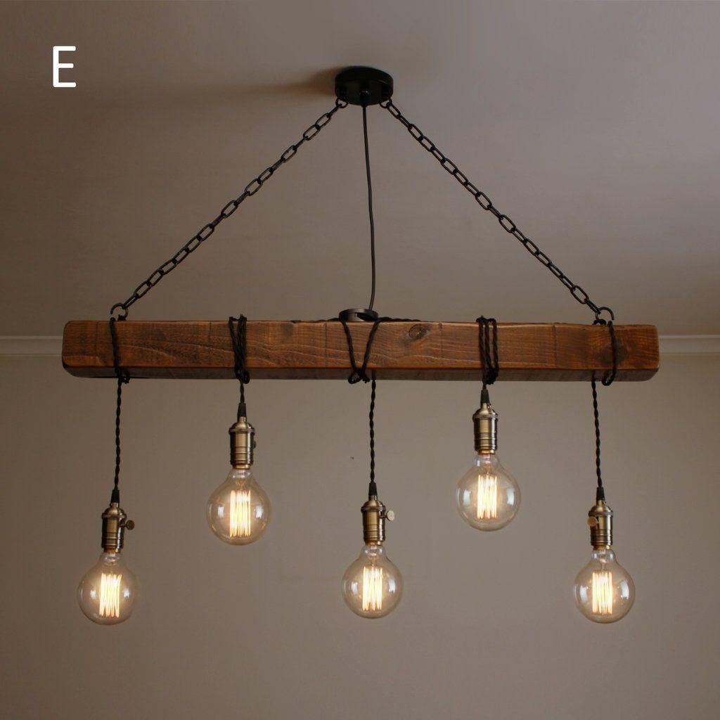 chandeliers in wood