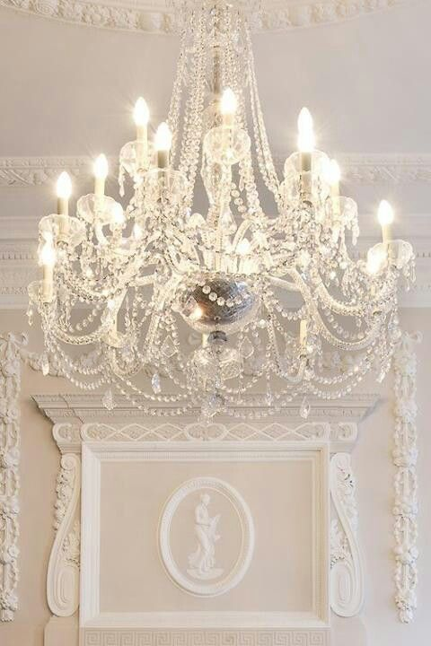 Chandeliers with pearls