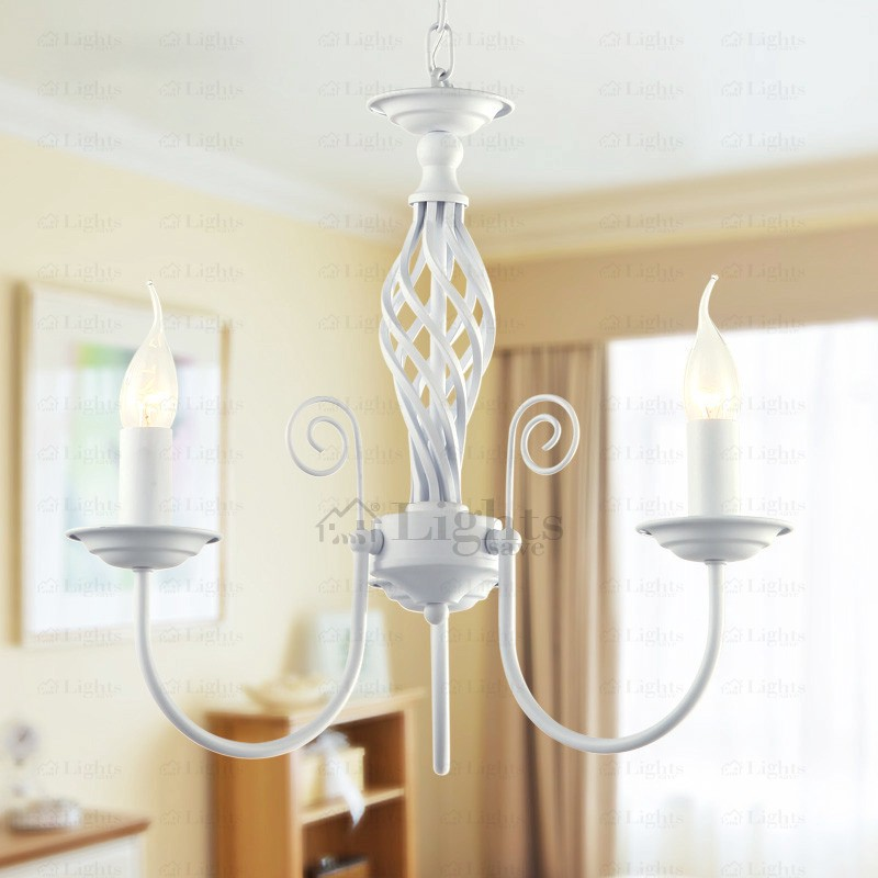 Cleaning white chandeliers