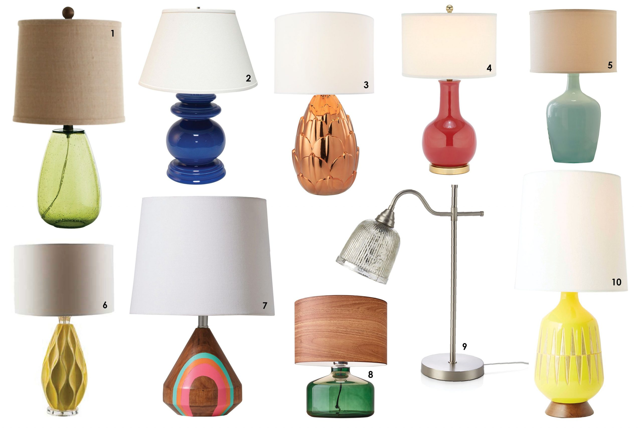 Colorful table lamps