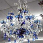 Crystal blue chandelier