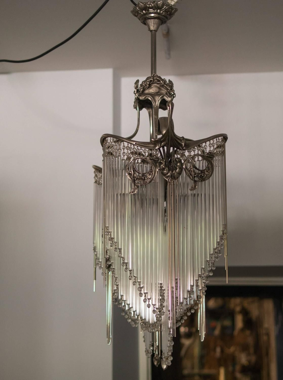Decor with chandelier lamps