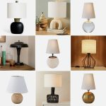 Decoration with small table lamp